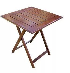 Mesa madera plegable oeste muebles for Mesa 70x70 madera